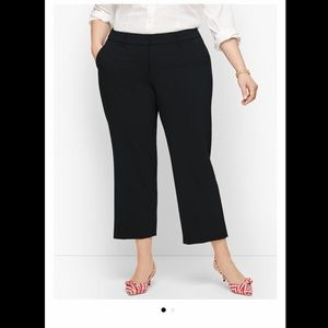 NWOT Talbots black crop pants size 20W